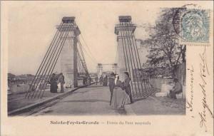 entrée du pont à Sainte Foy